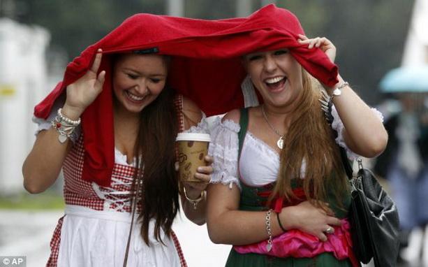 баварские платья дирндль