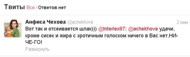 твиттер Чеховой