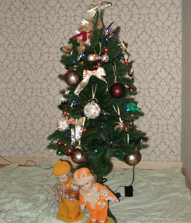 новогодняя елка бантики