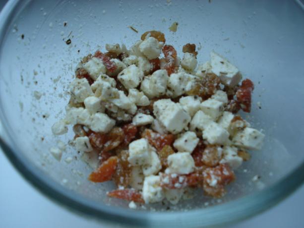 салат с фетой, оливковым маслом