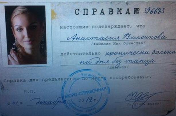 Анастасия Волочкова диагноз