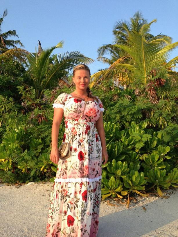 Анна Семенович на Мальдивах