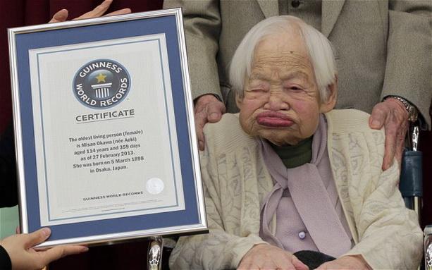 Японка Мисао Окава старейшая женщина Земли