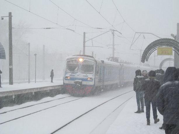 Киев 22 марта снежная буря
