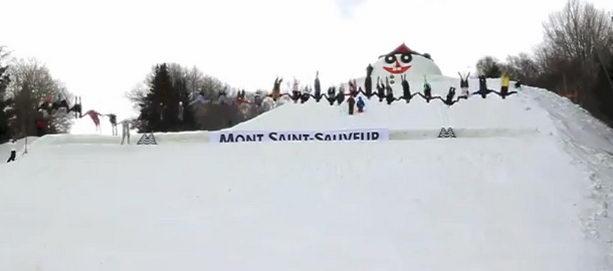 Лыжники сальто назад