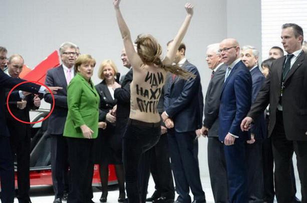 Путин Femen в Ганновере
