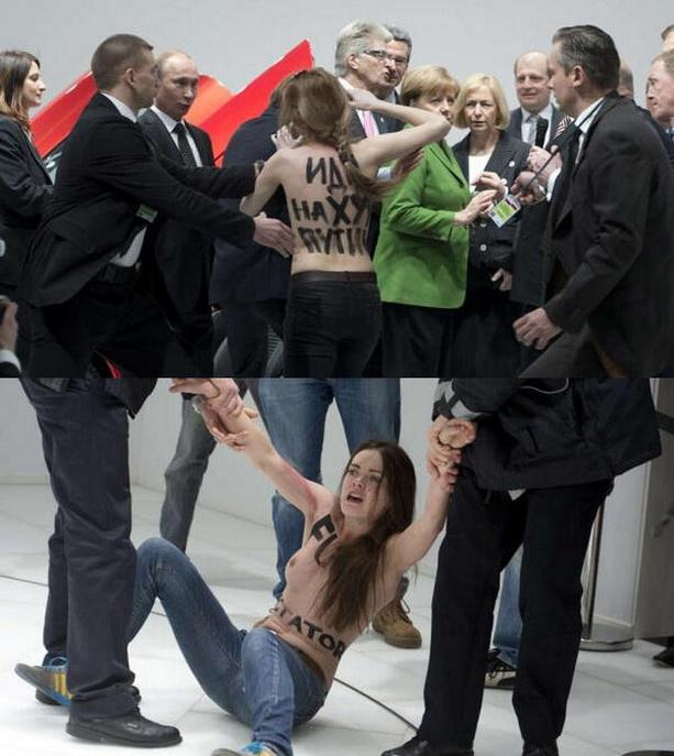 обнаженные активистки Femen