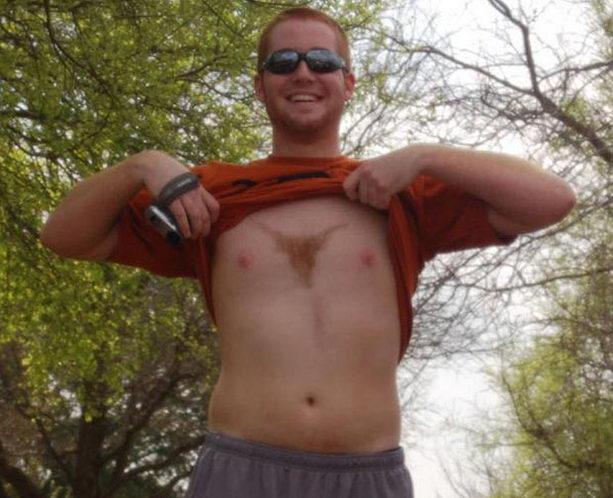 Выстрег трусики на груди