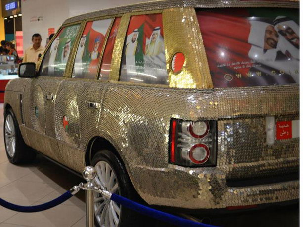 Range Rover покрыт монетами