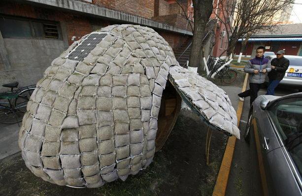 яйцевидной формы мобильный дом