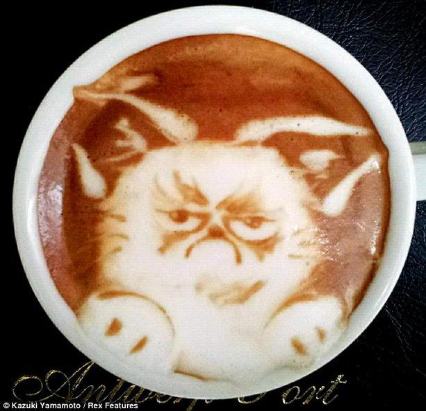 рисовать на кофе
