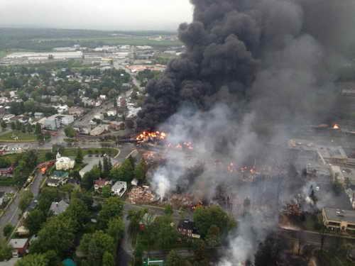Пожар в Лак-Межантик