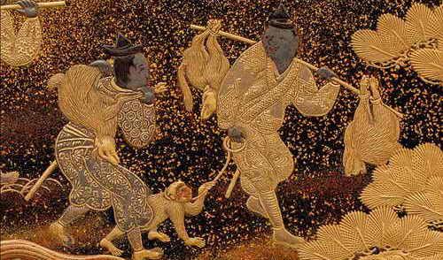 Золотой орнамент японского сундука 1640 г.