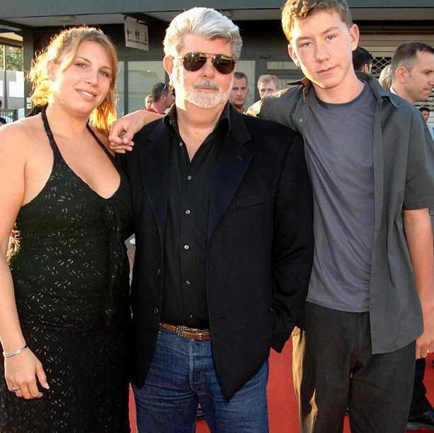 Лукас с дочкой Амандой и сыном Джеттом