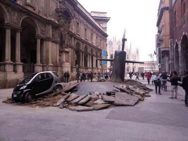 Подводная лодка в Милане