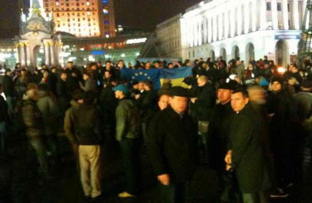 протест в Киеве 21 11 2014