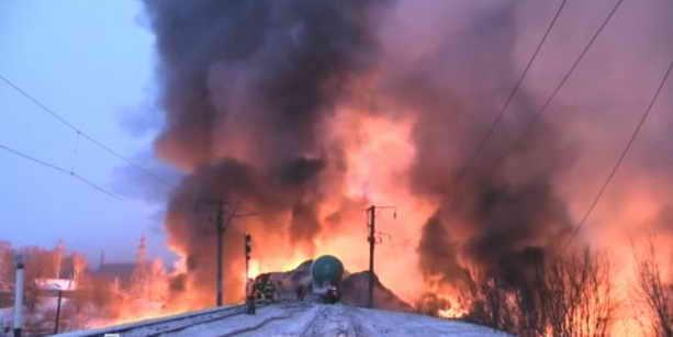Крушение и пожар под Кировым