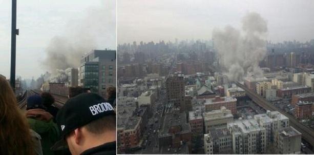 Взрыв в в центре Нью-Йорка