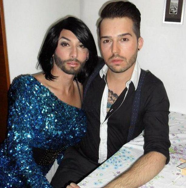 Кончита Вурст фото с мужем