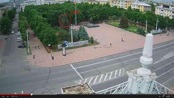 Выстрел у Луганской ОГА