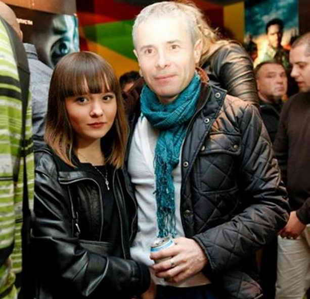 Константин Грубич и дочь