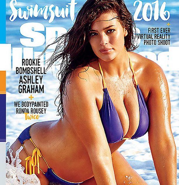 Обложку номера Sports Illustrated впервые украсила модель plus size Эшли Грэхэм