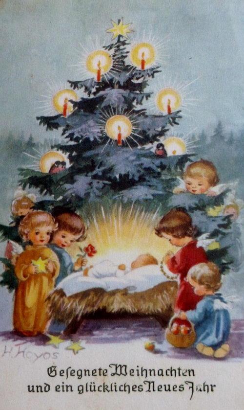 Открытки с католическим Рождеством на немецком