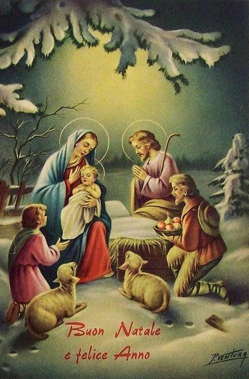 Открытки с Рождеством итальянские