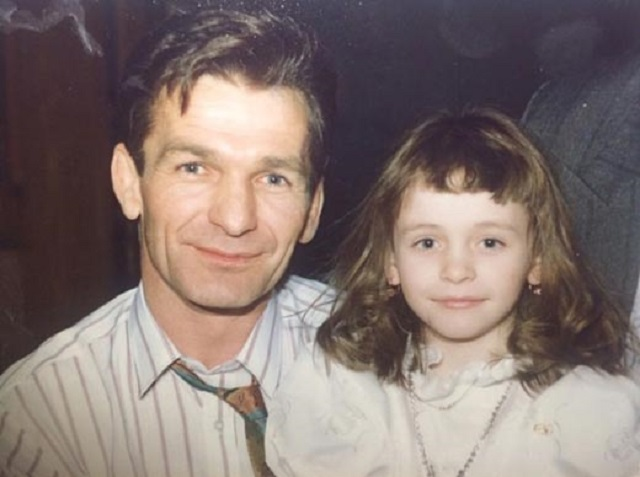 Анна Хилькевич фото в детстве с папой