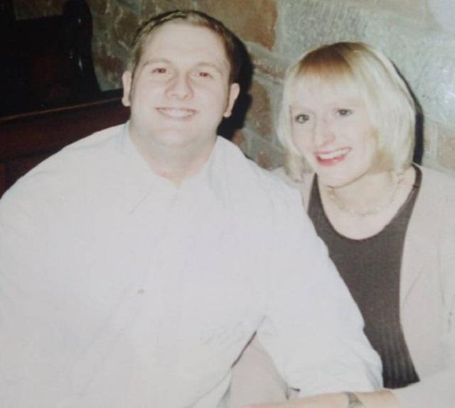 Женщина без носа Джейн Хардман до болезни с мужем