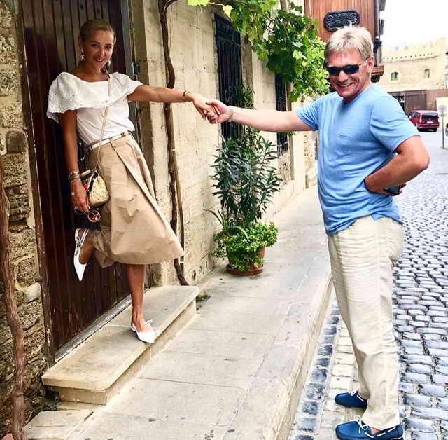 Дмитрий Песков и Татьяна Навка на фестивале ЖАРА 2018 Баку
