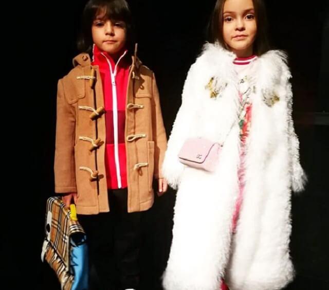Алла-Виктория Киркорова и Мартин Киркоров на показе мод