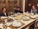 Лиза Пескова в гостях у Рамзана Кадырова
