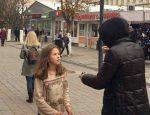 Алексей Панин и Нюша на съемках в Саратове
