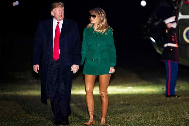 Меланья Трамп в обтягивающих брюках телесного цвета