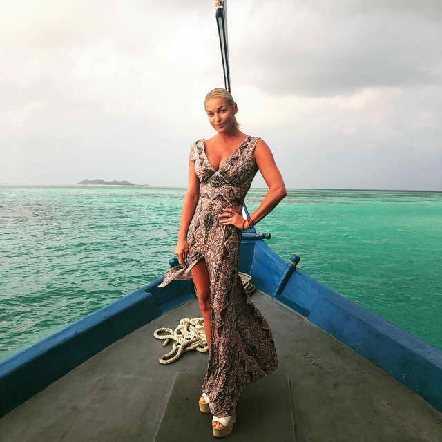 Волочкова на отдыхе на Мальдивах