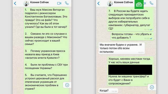 Ксения Собчак и НТВ согласовывали план передачи