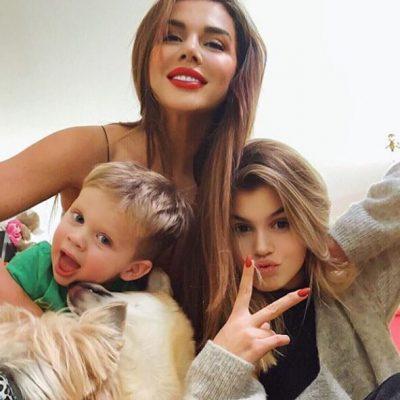 Анна Седокова дочь Алина сын Гектор