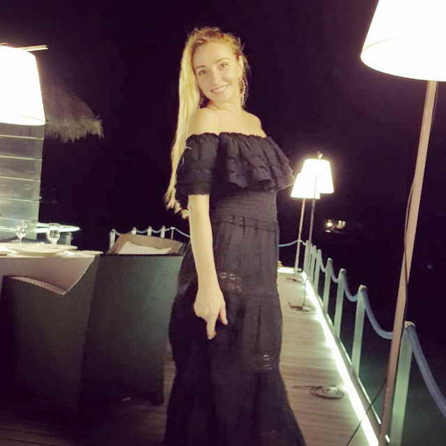 Татьяна Навка на Мальдивах