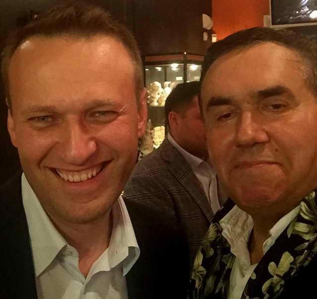 Навальный и Садальский на приеме в Кремле