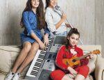 Певица Алсу с дочками: Микелла (10лет) и Сафина (12 лет)