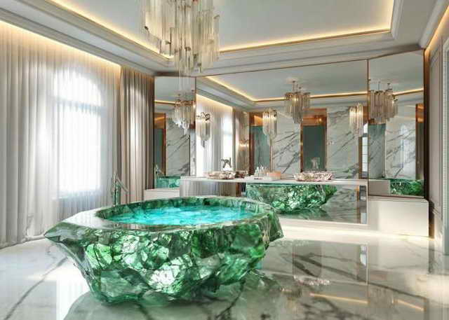 ванна из зеленного кварца 1 млн долларов