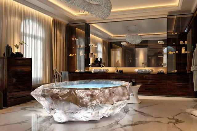 ванна из горного хрусталя