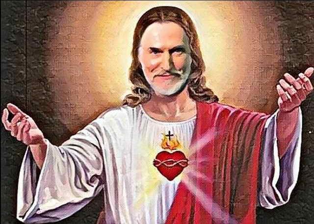 Никита Джигурда в образе Иисуса Христа