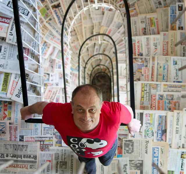 Серхио Бодини (Италия) хозяин самой большой в мире коллекции газет