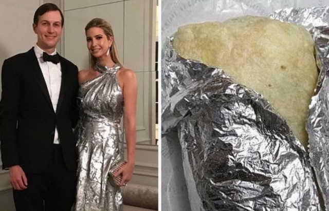 Металлической платье за 5000 долларов Иванка Трамп сравнили с буррито