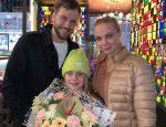 Татьяна Арнтгольц Иван Жидков и их дочь Мария 10 лет