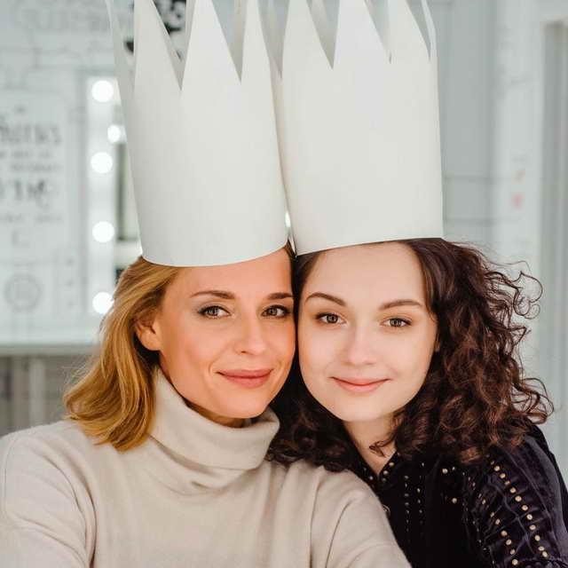 Любовь Толкалина и ее дочь Мария Михалкова Кончаловская