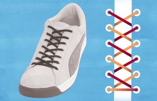 Классический метод шнуровки кроссовок