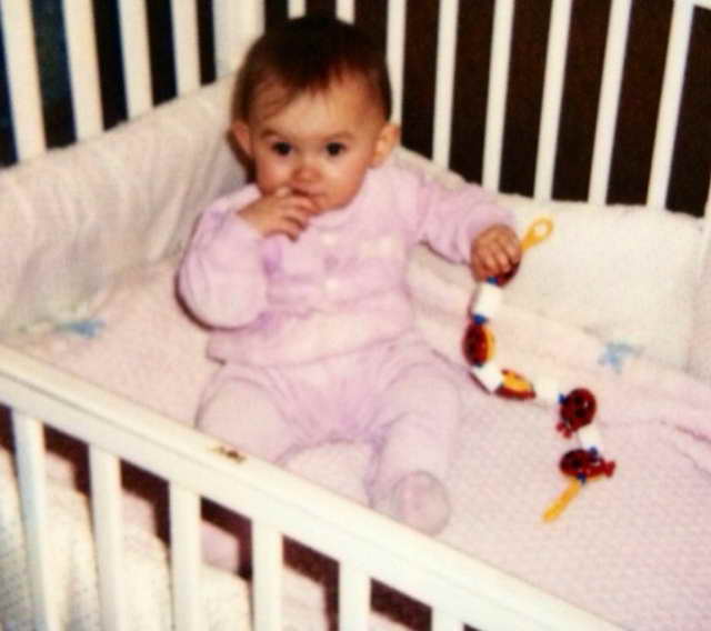 Мишель Серова в возрасте до года